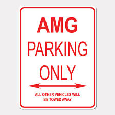 """AMG Parking Only Street Sign Heavy Duty Aluminum Sign 9"""" x 12"""""""