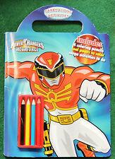 Power Rangers Megaforce Carry Along Activity Book Pencils C2013 Parragon New