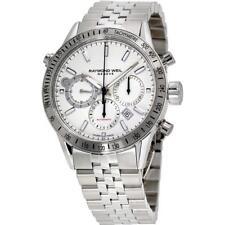 Raymond Weil 7740-ST-30001 Freelancer White Dial Mens Chronograph Watch