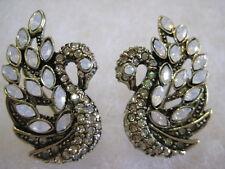 """HEIDI DAUS """"A Swan Song"""" (Luminous Green) Omega-Pierced Earrings"""