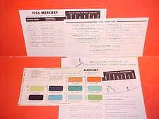 1955 1956 MERCURY MONTEREY CUSTOM MONTCLAIR CONVERTIBLE MEDALIST PAINT CHIPS SW