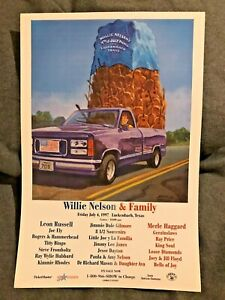 1997 WILLIE NELSON 4th of July Picnic Poster Original by Jim Franklin  JFKLN