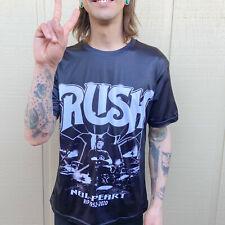 Rush band tee Neil Peart drummer shiney slick graphic t-shirt