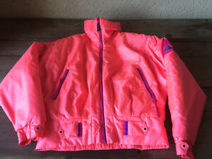 Alpine Design Goretex Ski Parka Womens Girls Jacket Coat ORANGE Hot Pink Med Lg