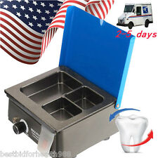 New 3-Well Wax Pot Analog Melting Dipping Heater Melter Dental Lab USA Seller