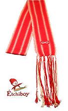 Metis Sash Etchiboy Ceinture Fléchée Red Métis Flag Drapeau Métis Alpaca Large