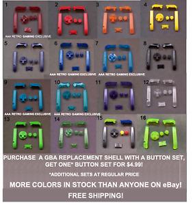 Game Boy Advance GBA BUTTONS SET Shoulder R L A B D-Pad - Pick Color!