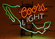 """Vintage Coors Neon Light Sign 1999 """"Mexico"""" Red White Green-Beer Bar Man Cave"""