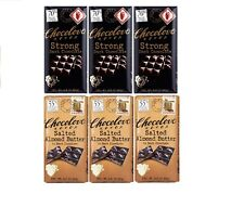 Chocolove Strong, Salted Almond Butter  Dark Chocolate 3.2oz ( 3 of each flavor)