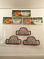 """Three Bass Pro Shops Red Head Outfitting 2"""" X 3-1/2"""" Patch"""