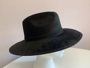 Fabellino Black Sombrero Wide Brim Hat. Size Medium