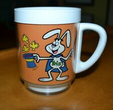 VINTAGE TRIX RABBIT & SUPER CHERRY THERMO-SERV DRINKING MUG CUP CHICLETS CEREAL