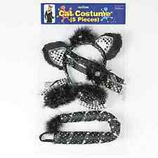 Black Bling Cat Costume Accessories One Set - HALLOWEEN (852574)