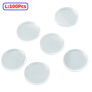 100Pcs Rubber Clear Glass Table Top Anti-Skid Pads Spacers Furniture Protection