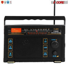 5Core ORIGINAL FM TRANSISTOR RADIO AM/FM 3 Band PORTABLE Vintage battery POWERED