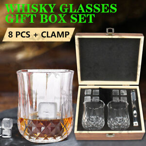 Whiskey Glasses Whiskey crystal Set Tumblers Whisky Spirits Bourbon Scotch Gifts