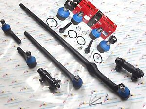 2WD Fits 1987-1996 Ford F150 10PCS Suspension & Streeing Kit DS1018 ES2077 K8431