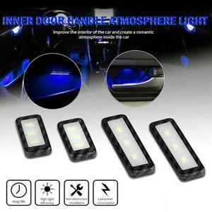 Blue Car Door Bowl Handle LED Ambient Atmosphere Light Interior Lamp Accessories