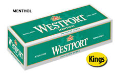 10 Cartons Westport Menthol King Cigarette Filter Tubes Green (2 Sleeves)