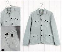 NUEVO LEE Trabajador chaqueta americana Vaqueros Acero Azul/Verde Corte Normal
