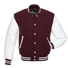 Varsity Wool College Wool baseball jacket with cowhide arms