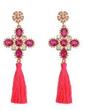 Fashion Bohemian Earrings Women Vintage Tassel Fringe Boho Nature Stone Earrings