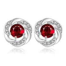 925 Sterling Silver Drop Dangle Stud Earrings  Zirconia L55