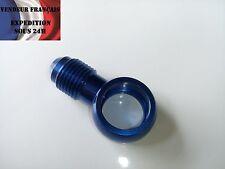 Banjo / oeillet simple Aluminium bleu AN4 diam. int. 13 mm VENDEUR FRANCAIS