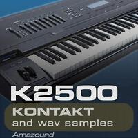 KURZWEIL K2500 SAMPLES KONTAKT 260 NKI 20 DRUMKITS 3900 WAV 24b MAC PC MPC LOGIC