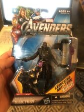 "Marvel Avengers ASSAULT SQUAD NICK FURY 3.75"" Action Figure Movie Series 2012"