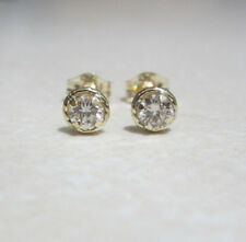 Brand New Halo 1 5ct Diamond 9ct Yellow Gold Stud Earrings 115 Freepost