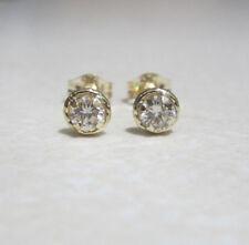 Brand New Halo 1/5ct Diamond 9ct Yellow Gold Stud Earrings £115 Freepost