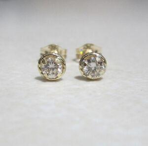 Brand New Halo Diamond 18ct Yellow Gold Stud Earrings £140 Freepost