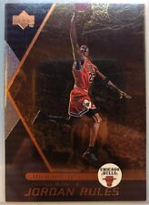 1998-99 UPPER DECK JORDAN RULES #J1, MICHAEL JORDAN, Rare Bronze MJ Insert