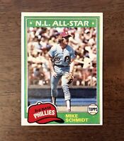 Topps 1981 Mike Schmidt #540 N.L. All Star Baseball Card - Philadelphia Phillies