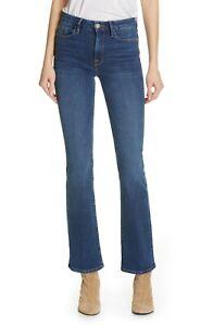 FRAME Women's Blue Mid - Rise Le Mini Boot Blendon Jeans