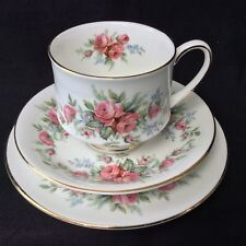 Vintage Royal Standard China Trio Rambling Rose Pink Tea Cup Saucer Plate Kitsch