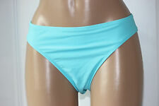 NEW Island Escape Aqua Blue Solid Shaper Pant Hipster Swim Bikini Bottom 10