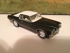 1/64 71 Pontiac Grand Prix in Midnight Green/White Vinyl top/Factory Rally Wheel