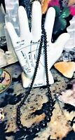 Vintage Strange Mirror Noir Seer Beads Chain Absorbing Energy Classic Necklace