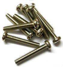 L11334 M2 2 Mm X 12 Mm De Largo Botón Rosca métrica de acero en plata X 10
