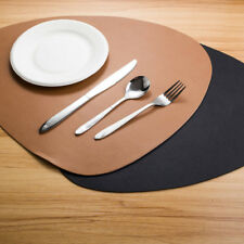 Set of2 4 6 8 Faux Leather Placemats Dining Table Place Settings Mats Black Tan