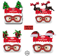 SEQUIN NOVELTY GLASSES CHRISTMAS Bopper Xmas Fancy Dress Party Festive Specs UK