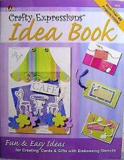 "Plaid ""Crafty Expressions Idea Book"" Create Cards & Gifts w/ Embossing Stencils"