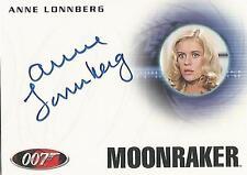 """James Bond Mission Logs - A165 Anne Lonnberg """"Museum Guide"""" Autograph Card"""