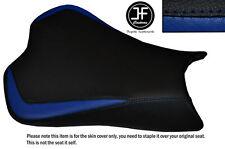 DESIGN 3 R BLUE BLACK VINYL CUSTOM FOR KAWASAKI NINJA ZX6R 636 09-15 SEAT COVER