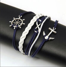 Women Men Infinity Love Anchor Cute Charm Bracelet DIY NEW Hot