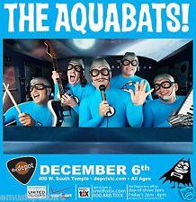 THE AQUABATS 2011 SALT LAKE CITY CONCERT TOUR POSTER - Group Playing Instruments