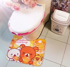 Rilakkuma Bear Cartoon toilet mat rug bathroom mat Free Shipping 410mm*510mm