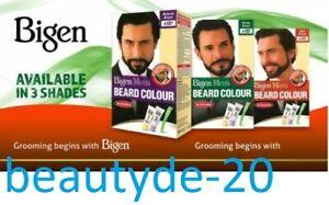Bigen Mens Permanent Beard & Moustache Hair Colour Dye No Ammonia-FREE UK POST!!